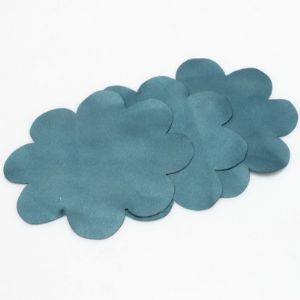 Glossy Fabric shapes, Polyester, Teal, 7.5cm x 7.5cm, 10 pieces, (STC0002)